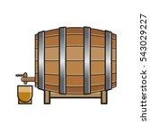 color wooden barrel vector... | Shutterstock .eps vector #543029227