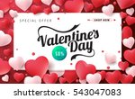 valentines day sale background... | Shutterstock .eps vector #543047083