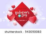 valentines day sale background... | Shutterstock .eps vector #543050083