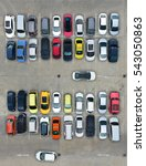 empty parking lots  aerial view. | Shutterstock . vector #543050863