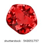 red ruby isolated on white... | Shutterstock . vector #543051757