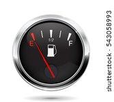 fuel gauge. car dashboard sign... | Shutterstock . vector #543058993