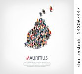 people map country mauritius... | Shutterstock .eps vector #543067447