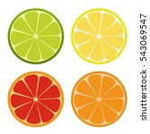 lemone  lime  orange icon.... | Shutterstock .eps vector #543069547
