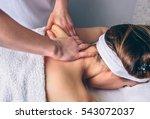 woman receiving massage on... | Shutterstock . vector #543072037