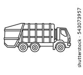 garbage truck icon. outline...   Shutterstock .eps vector #543073957