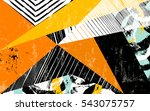 abstract geometric pattern... | Shutterstock .eps vector #543075757