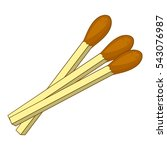 matches icon. cartoon... | Shutterstock .eps vector #543076987