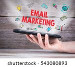 email marketing concept. tablet ... | Shutterstock . vector #543080893