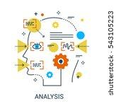 infographic flat design concept ... | Shutterstock .eps vector #543105223