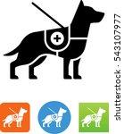 service dog icon | Shutterstock .eps vector #543107977