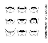 big set of vector hipster... | Shutterstock .eps vector #543120283