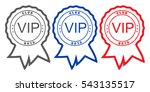 three vector round with... | Shutterstock .eps vector #543135517