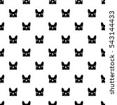 French Bulldog Vector Seamless...