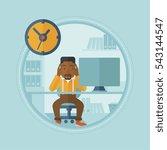 an african american worried... | Shutterstock .eps vector #543144547