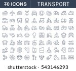 set vector line icons in flat... | Shutterstock .eps vector #543146293