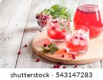 refreshing drink with... | Shutterstock . vector #543147283
