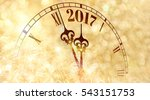 new year clock counting down... | Shutterstock . vector #543151753