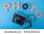 word photo made from cardboard... | Shutterstock . vector #543154423