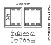 locker icon set.  spot icons. ...