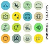 set of 16 business management... | Shutterstock .eps vector #543156997