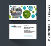 vector business card template... | Shutterstock .eps vector #543161293