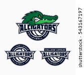 set of alligator mascot for a...   Shutterstock .eps vector #543167197