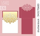 laser cut wedding invitation... | Shutterstock .eps vector #543170683