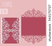 vector die laser cut envelope... | Shutterstock .eps vector #543170737