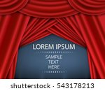 red curtain  red curtain on...   Shutterstock .eps vector #543178213