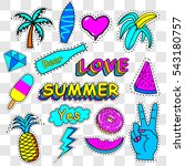 patches summer   vector... | Shutterstock .eps vector #543180757