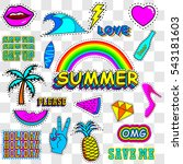 patches summer   vector... | Shutterstock .eps vector #543181603