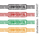 confidential stamp set ... | Shutterstock .eps vector #543194437