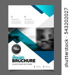 blue business brochure design.... | Shutterstock .eps vector #543202027