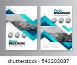 blue business brochure design.... | Shutterstock .eps vector #543202087