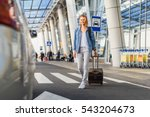 female tourist arrived at home | Shutterstock . vector #543204673