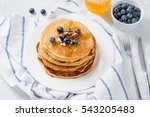 homemade pancakes with... | Shutterstock . vector #543205483