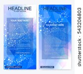 leaflet flyer layout. magazine... | Shutterstock .eps vector #543206803