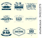 happy fathers day design... | Shutterstock .eps vector #543211573