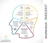 vector brain linear infographic.... | Shutterstock .eps vector #543215317