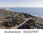 aerial of temescal canyon road... | Shutterstock . vector #543227947