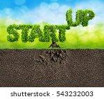 start up business 3d... | Shutterstock . vector #543232003