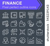 set of thin line finance and...