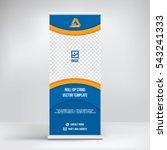 banner roll up design  business ...   Shutterstock .eps vector #543241333
