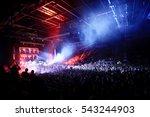 blurred background light lights ... | Shutterstock . vector #543244903
