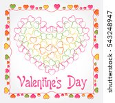 hearts as background.... | Shutterstock .eps vector #543248947