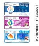 set of vector business covers.... | Shutterstock .eps vector #543260017