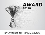 the award of the particles.... | Shutterstock .eps vector #543263203