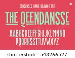 hand drawn condensed alphabet... | Shutterstock .eps vector #543266527