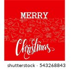 christmas elements  with text... | Shutterstock .eps vector #543268843